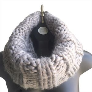 Warehouse Grey Cable Knit Snood Scarf